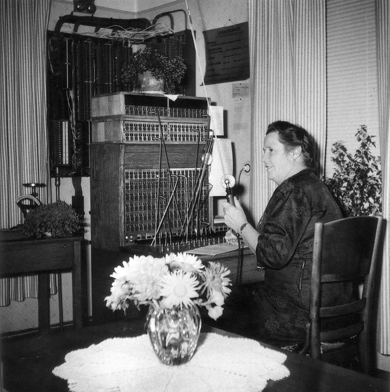 Så här såg det ut på Telegrafstationens kontor 1957.