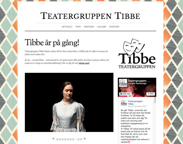 Ny webbsida för Teatergruppen Tibbe