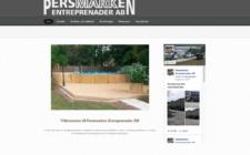 Webbsida för Persmarken Entreprenader AB