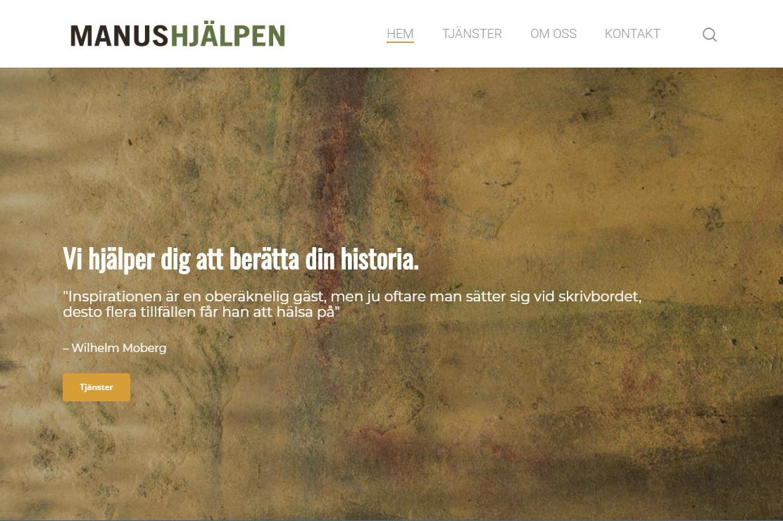 Webbsida Manushjälpen